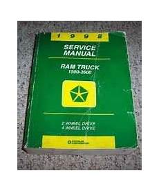 car owners manuals for sale 1998 dodge ram 1500 club transmission control 1998 dodge ram truck service manual diy repair manuals
