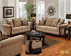 delray traditional sofa love seat living room furniture set taupe chenille new ebay