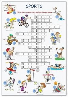 sports crossword puzzle worksheet free esl printable worksheets made by teachers