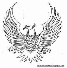 Sketsa Mewarnai Gambar Burung Garuda Sketsa Mewarnai