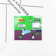 Stiker Kertas Pembatas Buku Gambar Kartun Kpop Bts Bt21