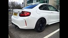 bmw m2 m performance exhaust normal mode flaps open youtube