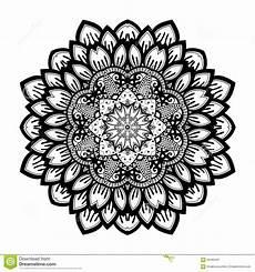 Mandala Malvorlagen Xl Beau Mandala De Noir De Deco De Vecteur Illustration De