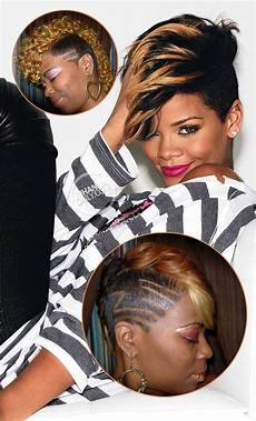 Rihanna Hairstyles Front And Back View