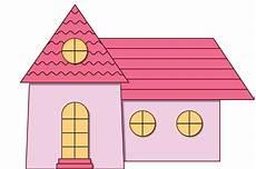 Desain Digital Menggambar Rumah Kartun Sederhana Dengan