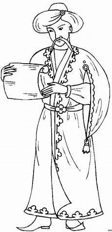 orientalischer mann liesst ausmalbild malvorlage phantasie
