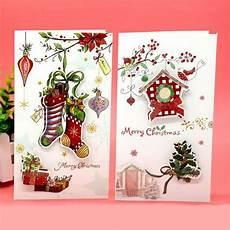 8pcs lot creative christmas greeting card children cartoon print merry christmas party