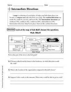 directions worksheets grade 5 11556 intermediate directions map directions worksheet for 3rd 5th grade lesson planet