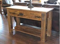 teton 2 drawer sofa table rustic furniture mall by