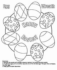 easter egg wreath coloring page crayola