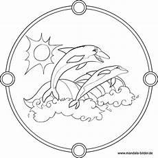 Malvorlage Mandala Delfin Zwei Delfine Im Meer Kostenloses Mandala Ausmalbild