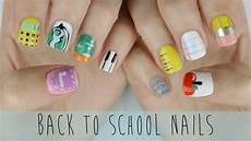 these school themed nails are super cute