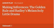 handwriting worksheets 21616 ela g8 inferences the golden rule and radley s melancholy drama
