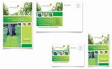 post card template publisher lawn mowing service postcard template word publisher