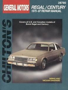 free car repair manuals 1987 buick regal head up display 1975 1987 buick regal century chilton s total car care manual