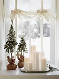Weihnachtsdeko Idee Fensterdeko Kerzen