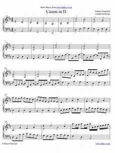 johann pachelbel canon in d arranged for piano