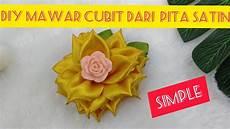 Diy Tutorial Simple Mawar Cubit Dengan Pita Satin By