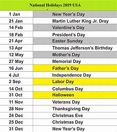 public holidays 2019 for usa school holiday calendar us holidays holiday calendar