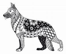 Malvorlage Hund Mandala Kostenloses Ausmalbild Hund Sch 228 Ferhund Die Gratis