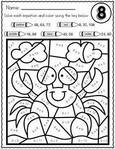 color by number worksheets multiplication 16056 summer math multiplication color by number worksheets by heuer