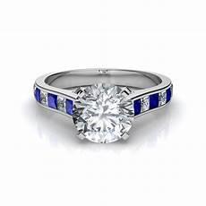 princess cut blue sapphire engagement ring natalie diamonds