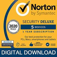 norton security deluxe 2020 5 devices 1 year