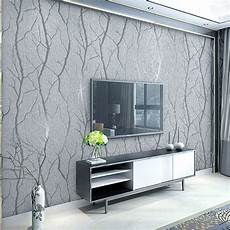 European 3d Embossed Grey Wallpaper Birch Tree Home Decor