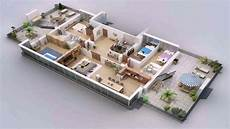 one floor house design plans 3d see description youtube