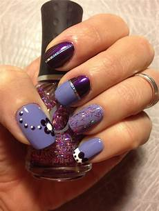 purple nail design nails pinterest