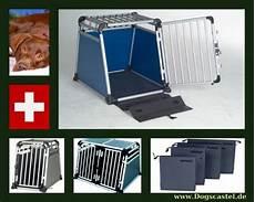 hunde transport auto hundetransportboxen aluminium g line dogscastle