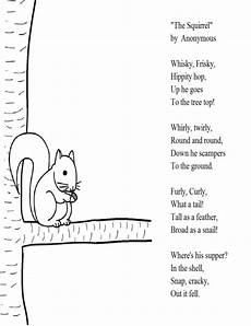 poem worksheet third grade 25391 quot the squirrel quot poem for 2nd grade elementary school activities teaching elementary school