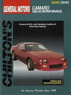 motor repair manual 1992 chevrolet camaro interior lighting 1982 1992 chevrolet camaro chilton s total car care manual