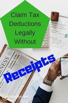 when claiming fake deductions is legal