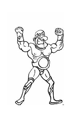 superheld mit guertel ausmalbild malvorlage comics