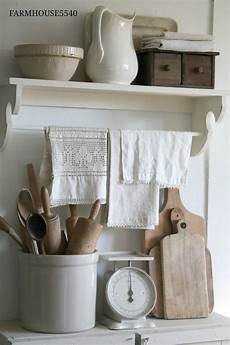 Kitchen Linens And Decor by Farmhouse Kitchen White Painted Furniture And Neutral