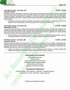 math teacher resume sle page 2