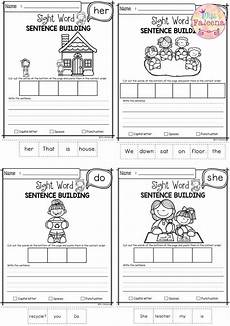 building sight words worksheets 21020 free sight word sentence building best of tpt sight word sentences sentence building