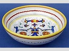 Italian ceramic bowls, Italian ceramic bowl serving fruit