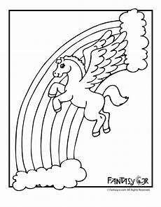 Malvorlagen Wings Unicorn Unicorn And Rainbow Coloring Page Coloring Pages