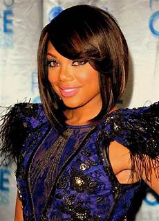 short hairstyles with bangs for black trendy 2015
