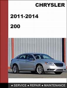 online auto repair manual 2011 chrysler 200 engine control chrysler 200 2011 2014 factory workshop service repair manual tradebit