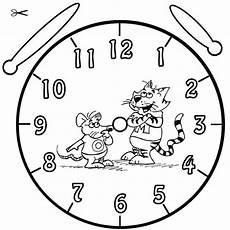 Uhr Malvorlagen Zum Ausdrucken Kostenlose Malvorlage Uhrzeit Lernen Ausmalbild Olli Und