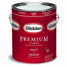 glidden premium 1 gal pure white flat interior paint gln9011 01 the home depot