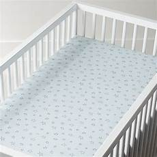 organic blue star crib fitted sheet crate and barrel