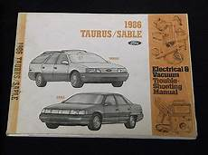 all car manuals free 1988 ford taurus security system ford oem service manual 1986 ford taurus mercury sable evtm ebay