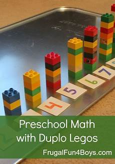 hands on math games with lego duplo frugal fun for boys two preschool math activities with duplo legos frugal