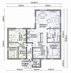 Bungalow Haus Grundriss Ebenerdig Mit Einliegerwohnung