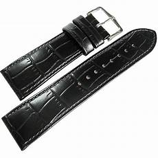 20mm Leather Band by 20mm Hirsch Louisiana Black Alligator Grn Leather