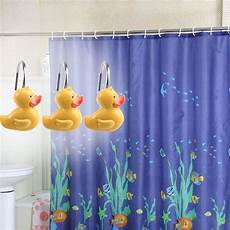 yellow duck shower curtain 12 pcs decorative yellw duck shower curtain hooks yellow